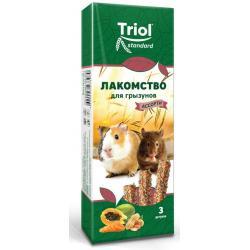 Лакомство для грызунов Тriol Standard Ассорти с фруктами, овощами и орехами (3 штуки)