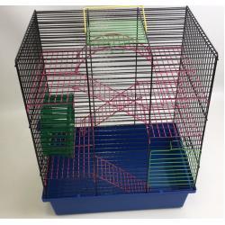 Клетка для грызунов Венеция большая (с лестницами, мостиком и колесом)