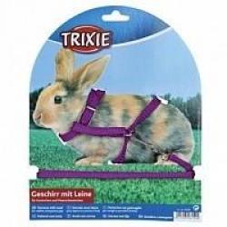 Шлейка для кроликов Trixie, одноцветная, 8 мм х 1,2 м