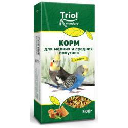 Корм для мелких и средних попугаев Triol с мёдом, 500 г