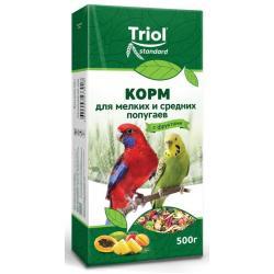 Корм для мелких и средних попугаев Triol с фруктами, 500 г
