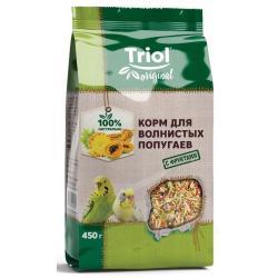 Корм для волнистых попугаев Triol Original с фруктами, 450 г