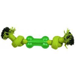 Игрушка для собак Веревка-канат (2 узла и кость), 24 см
