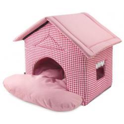 Дом для кошек и собак Садовый, цвет розовый, 46x50x45 см
