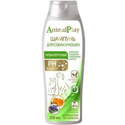Шампунь для собак и кошек Animal Play Гипоаллергенный, с аминокислотами и экстрактом шалфея, 250 мл
