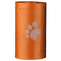 Набор цветных пакетов для уборки за собаками Trixie Лапки, 4 рулона по 20 штук (размер М)