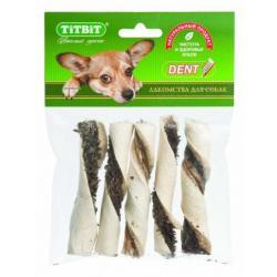 Лакомство для собак TiTBiT Палочки витые с начинкой (мягкая упаковка)