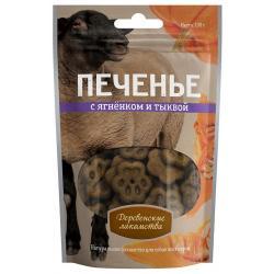 Лакомство для собак Печенье с ягненком и тыквой, 100 г