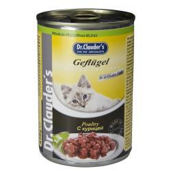 Консервы для кошек Dr.Clauder`s Курица (кусочки в соусе, 415 г)