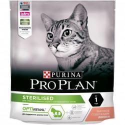Сухой корм для кастрированных котов и стерилизованных кошек Pro Plan Sterilised (лосось), 400 г